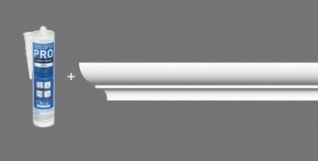 Stuckleisten-Set Orac Decor CB502 - 8 Deckenleisten mit Kleber