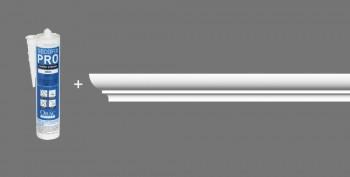 Stuckleisten-Set Orac Decor CB501 - 8 Deckenleisten mit Kleber