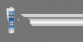Stuckleisten-Set Orac Decor CB511 - 8 Deckenleisten mit Kleber _L
