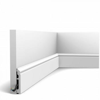 Fußleiste SX173-Ral-9003 Orac Decor Contour weiß endbeschichtet