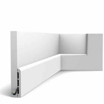 Fußleiste SX184-Ral-9003 Orac Decor Cascade weiß endbeschichtet